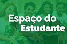 Mini banner com quatro alunos do IFTO e o texto na imagem Espaço do Estudante
