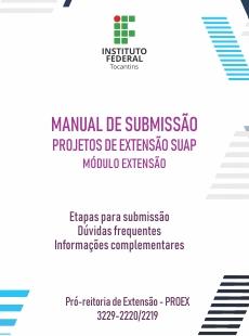 Capa do Manual de Submissão de Projeto de Extensão