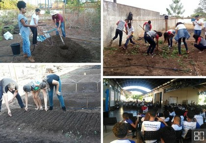 Horta Agroecologica na Escola Ensino e Prática