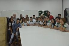 Alunos do Campus Colinas do Tocantins durante visita
