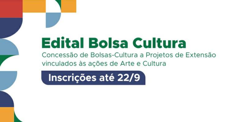 Bolsa Cultura recebe submissões de novas propostas até o dia 22 de setembro