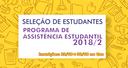 Inscrições abertas para Programa de Assistência Estudantil