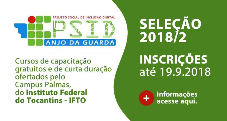PSID 2018/2: 1016 vagas em 29 cursos de capacitação profissional gratuitos