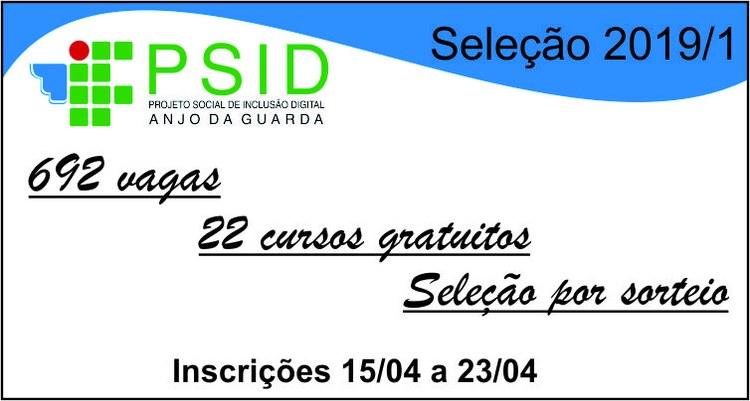 Campus Palmas oferece 692 vagas em 22 cursos de capacitação profissional: inscrições abertas