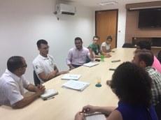 Reunião entre representantes da Proex, Empresa Júnior e professores do Campus Palmas