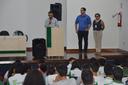 Reitor, diretor-geral do Campus Araguatins e representante da DAE durante a reunião
