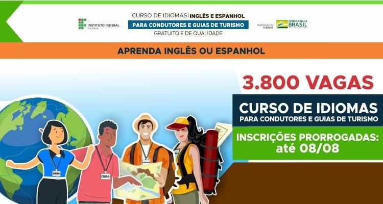 Inscrições prorrogadas para cursos de idiomas destinados a guias e condutores de turismo