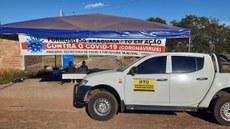 Entrega realizada na barreira sanitária, em Formoso do Araguaia