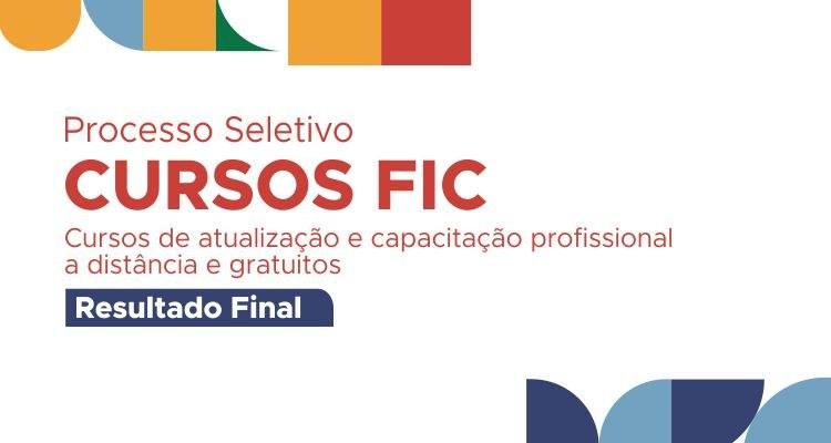 IFTO divulga resultado final dos cursos FIC EaD - Novos Caminhos
