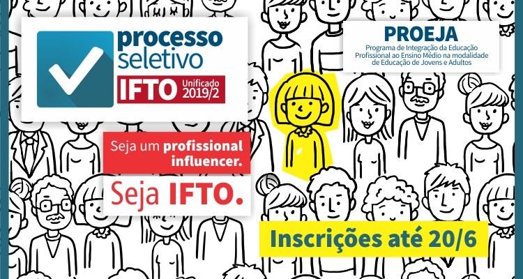 IFTO oferta 80 vagas para jovens e adultos concluírem o Ensino Médio