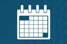Pra cego ver: ícone representativo de calendário. Fim da descrição.