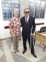 Professor e sua orientadora