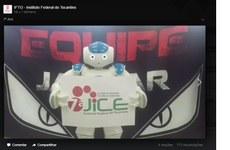 Robô NAO convida para participar da 7ª Jice
