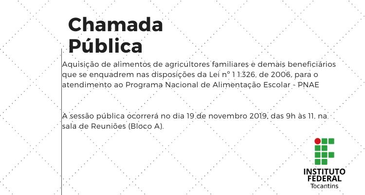 Unidade Araguatins  para aquisição de alimentos de agricultores familiares e demais beneficiários