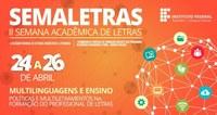 Inscrições para a II Semana de Letras e II Colóquio Regional de Estudos Linguísticos e Literários
