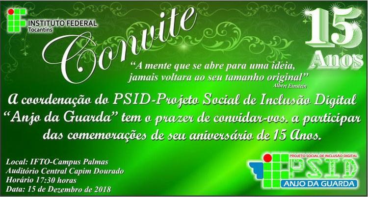 PSID comemora 15 anos de atividades